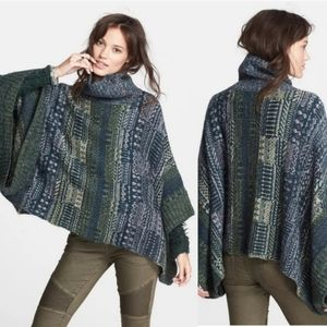 Free People Willow Knit Poncho Sweater